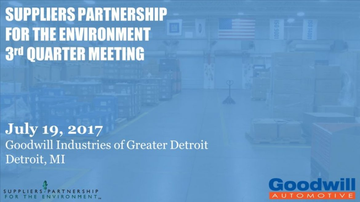 Goodwill Detroit to host SP on July 19