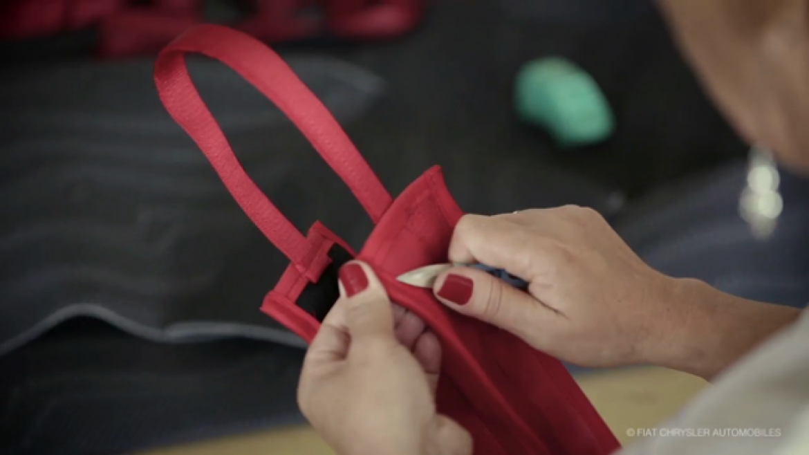 FCA Creatively Reuses Fabric and Seat Belt Remnants