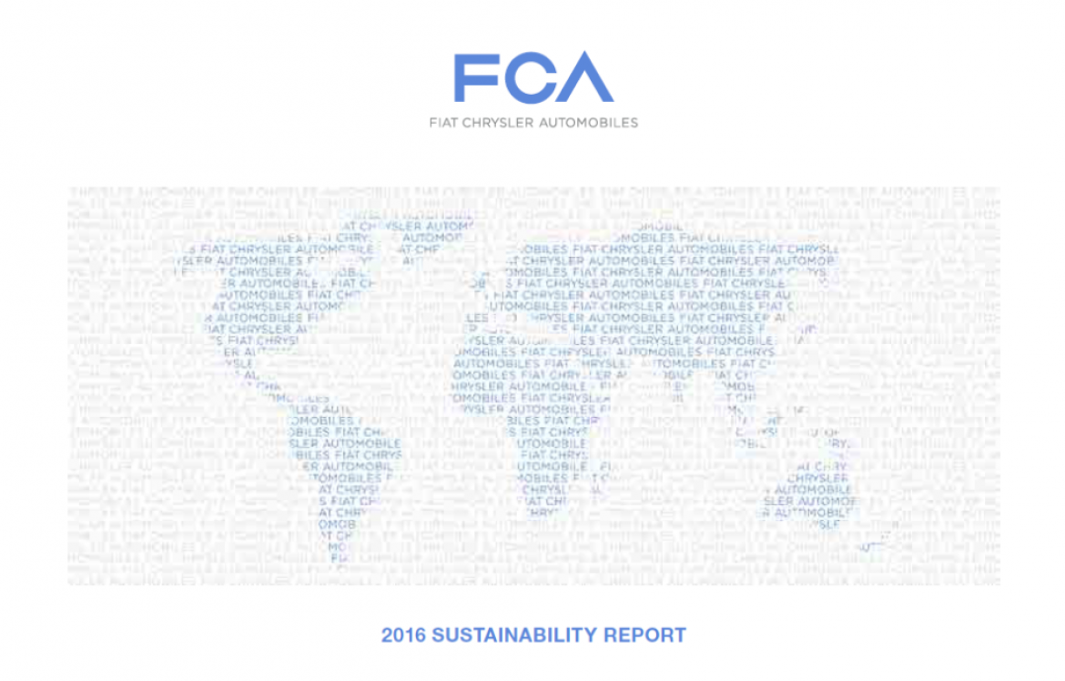 Fiat Chrysler Automobiles Releases 2016 Sustainability Report