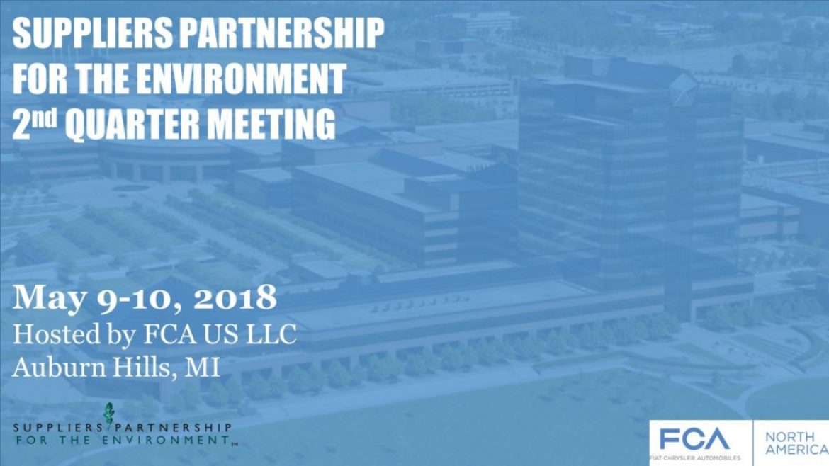 Save Date: SP Q2 Meeting 2018