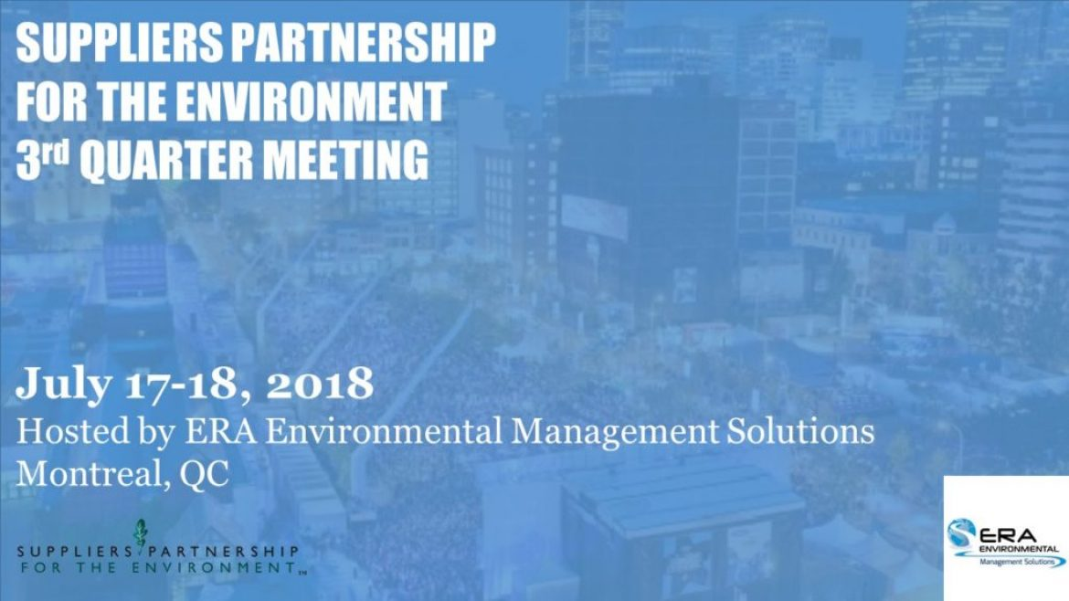 Save the Date: SP's Q3 2018 Meeting in Montreal