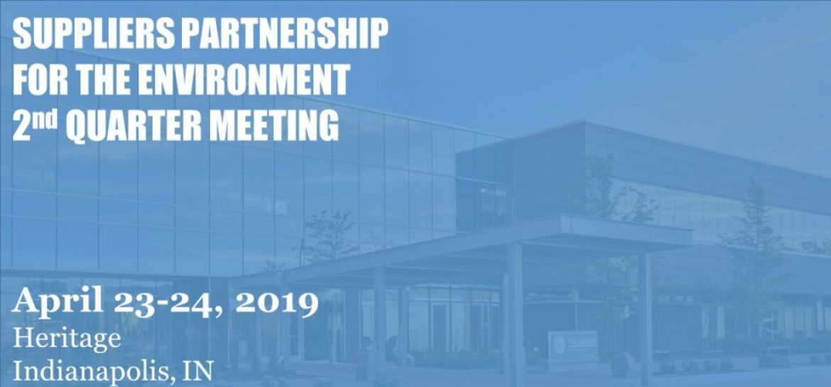 Save Date: SP Q2 2019 Meeting at Heritage