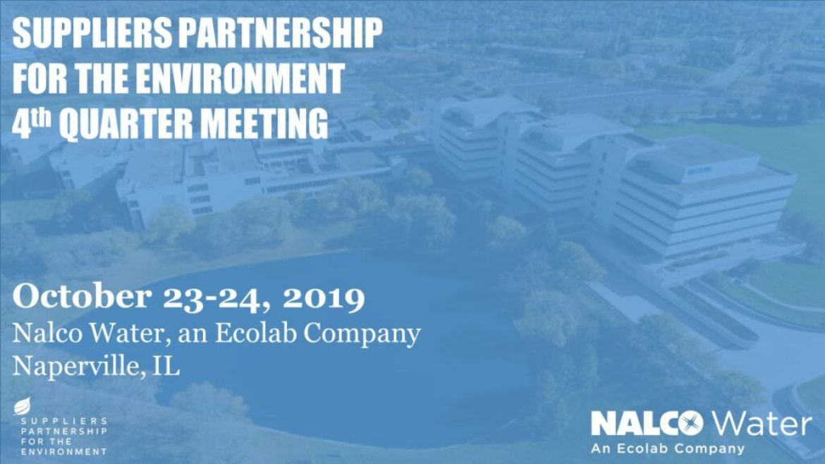 Save Date: SP Q4 Meeting at Nalco Water